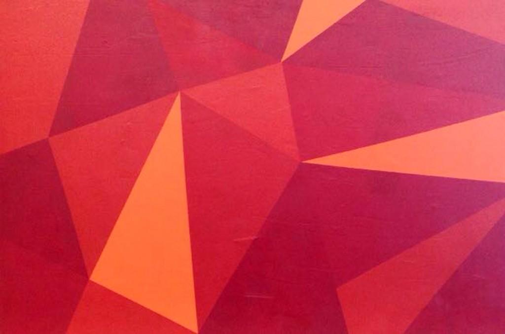 Cherry Pie - mista sobre tela - 120x80 cm por Fabiana Langaro Loos