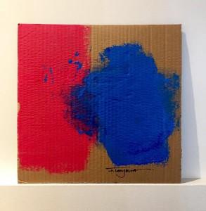 Liberté, Égalité, Fraternité acrílica sobre papelão 33x33 cm por Fabi Loos