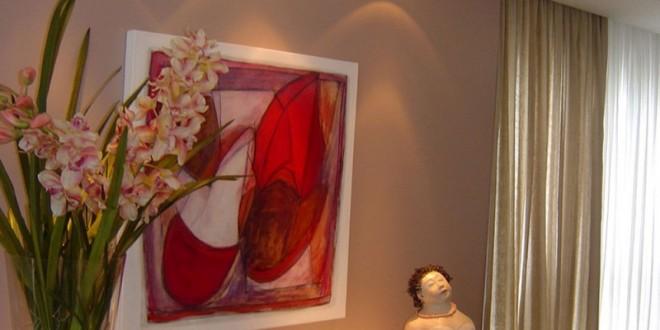 FLores em lilás e vermelho