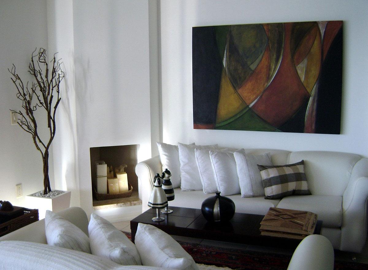 Obra de arte Gondolas de Fabiana Langaro Loos em ambientação da arquiteta Shirley Archer