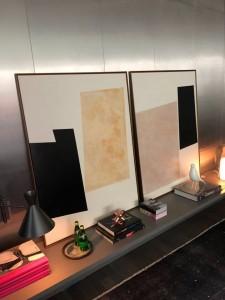 Obras de arte da artista plástica Fabiana Langaro Loos na Casa Cor São Paulo 2018, ambiente assinado pelo Studio CASAdesign.