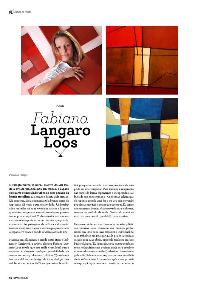 Revista Estilo ND - página 84 - Entrevista com Fabiana Langaro Loos