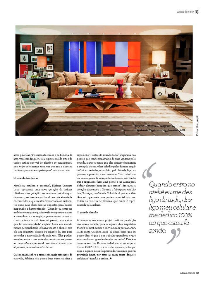 Revista Estilo ND página 85 - Entrevista com Fabiana Langaro Loos