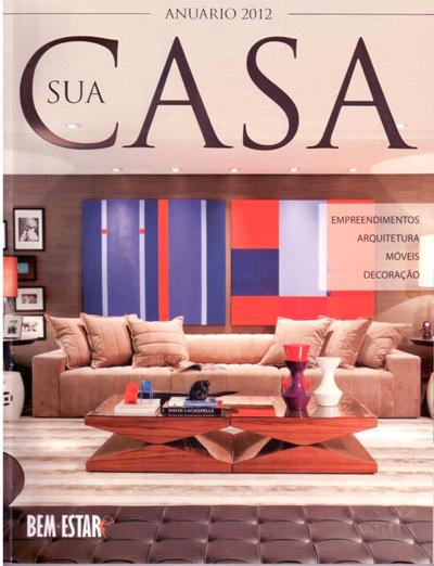 Revista Sua Casa - Obras de Fabiana Langaro Loos na capa do Anuário 2012
