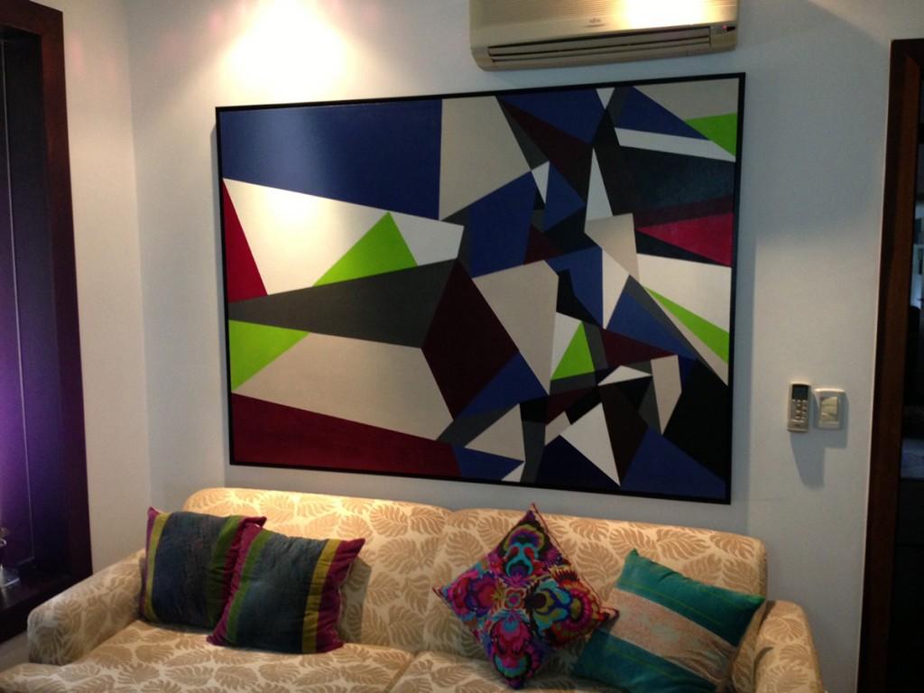 Revoada 180 x 130 cm por Fabiana Langaro Loos em ambiente da arquiteta Shirley Archer