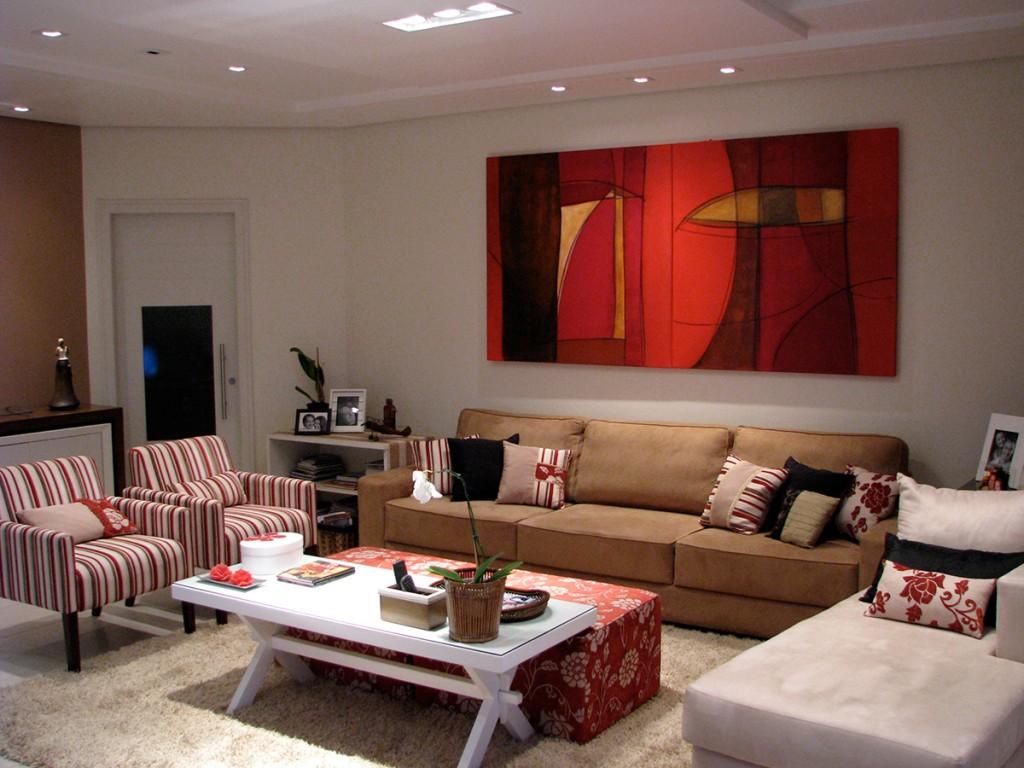 obras de arte de Fabiana Langaro Loos em ambiente assinado pela arquiteta Shirley Archer