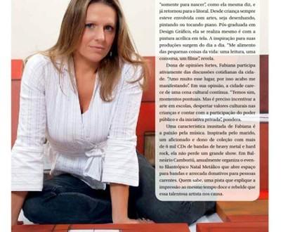 Fabiana Langaro Loos na revista Balneário Camboriú É #1